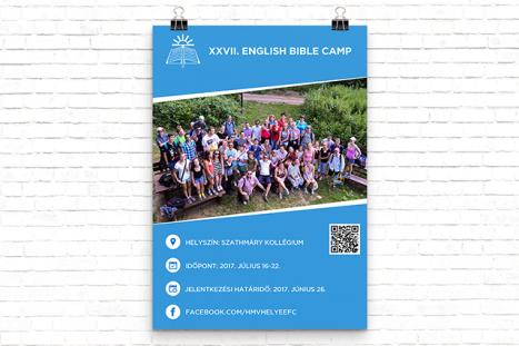 XXVII. Angol Biblia Tábor Plakát