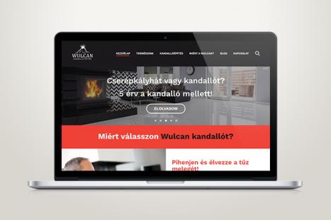Wulcan kandalló építés Weboldal terve